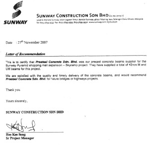 01Letter of recommendation - Suncon